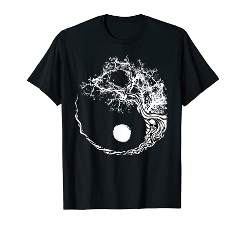 Yin Yang Bonsai Tree Japanese Buddhist Zen Spiritual Japan T-Shirt