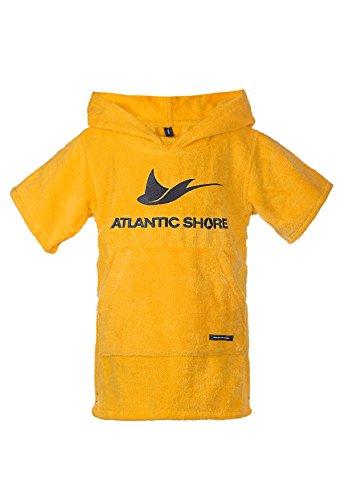 Atlantic Shore   Surf poncho ➤ Badjas/verhuishulp van hoogwaardig katoen ➤ voor kids/kinderen ➤ Geel