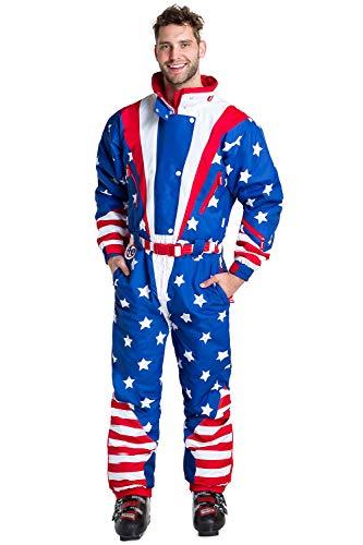 Americana Ski Suit - Stars and Stripes Retro Ski Suit: Medium