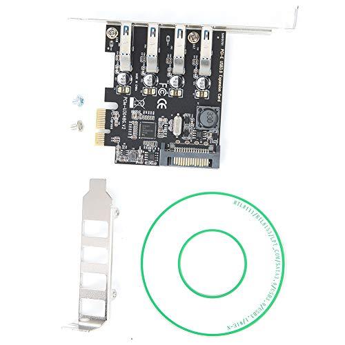 CHICIRIS Ci-E-USB3.0, Tarjeta de expansión pequeña portátil de 4 Puertos para Servidor