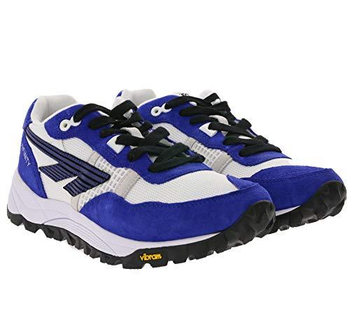 Hi-Tec Retro Turnschuhe stabile Damen Outdoor-Schuhe mit Vibram®-Laufsohle HTS BW Infitinity Trailrunning-Schuhe Freizeit-Sneaker Blau, Größe:36