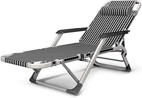 LAMTON Tumbona Plegable Almuerzo Siesta Bed/multifunción portátil Mayores velocidades de Ajuste Multi reclinación del Respaldo Lazy Oficina Beach Chai Resistencia 170kg