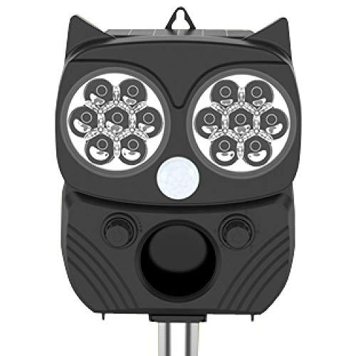動物撃退器 ソーラー 充電 猫よけ 害獣対策 車両盗難防止 赤外線ライト U-061 ブラック