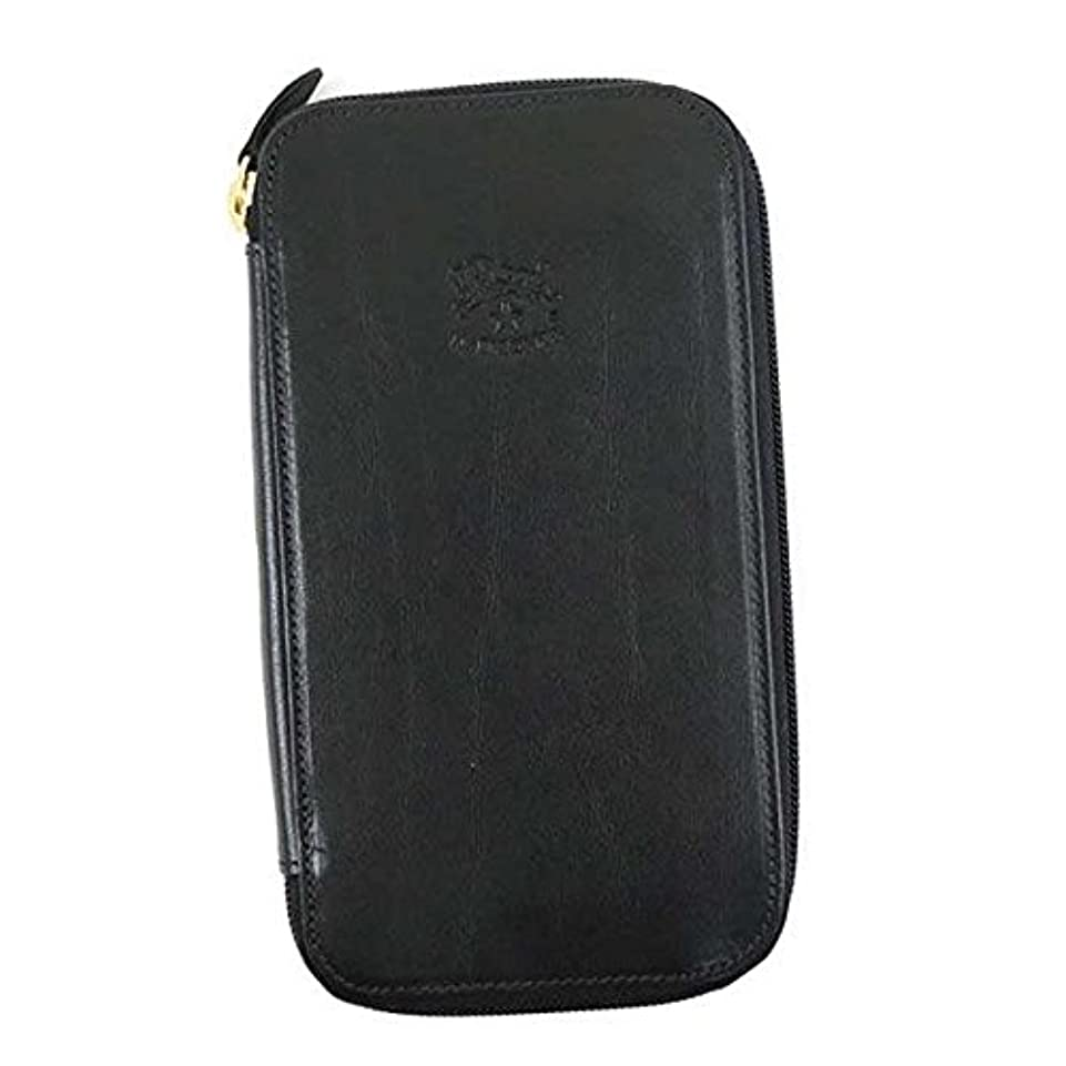 放出データスーツケースIl Bisonte イルビゾンテ WALLET ラウンド長財布 ブラック C0442 [並行輸入品]