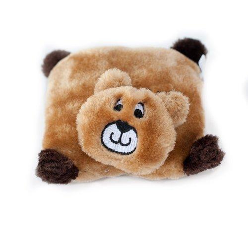 ZippyPaws - Squeakie Pads No Stuffing Plush Dog Toy - Bear