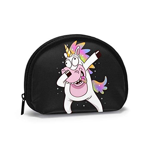 Funny Unicorn Bing Dance Cute Printed Themed Change Purse Cute Shell Storage Bag Girl Wallets Buckle Coin Purses Key Pouch Gifys Woman