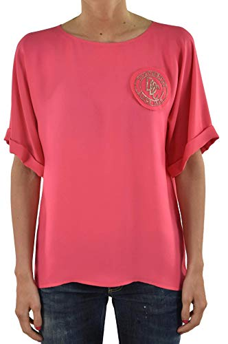 Dsquared2 T-shirt roze met coccarda dames - kleur: roze - maat: 42/44 - Made in Italy