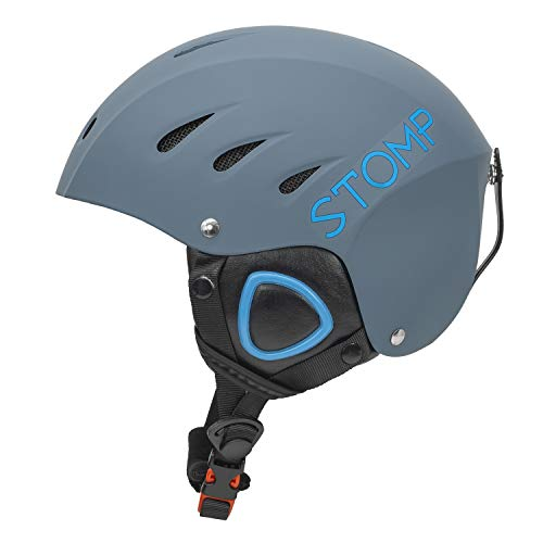 STOMP Ski & Snowboarding Snow Sports Helmet With Build-In Pocket in Ear Pads For Wireless Drop-In Headphone