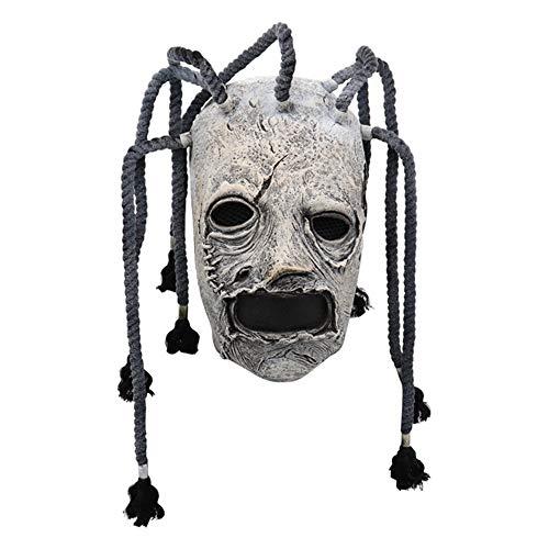QWEEF Mscara de Halloween Mscara de Horror de Halloween Cosplay Traje de la Cabeza Completa for nios y Adultos Accesorio de Cosplay de Halloween (Color : White, Tamao : M)