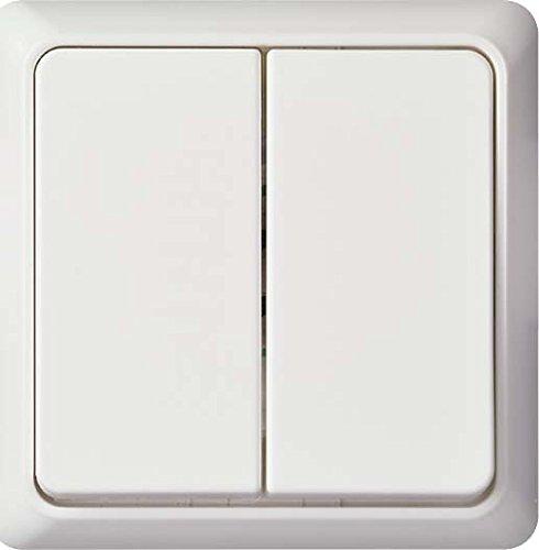 Elso 506194 dubbele knop 42V/1A UP renovatie zuiver wit Dop.tast.Einbau.1A.42V REN rw