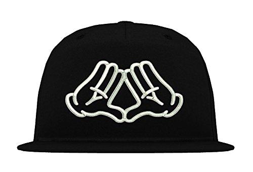 TRVPPY 5-Panel Snapback Cap Modell Mickey Illuminati, Weiß-Schwarz, B610