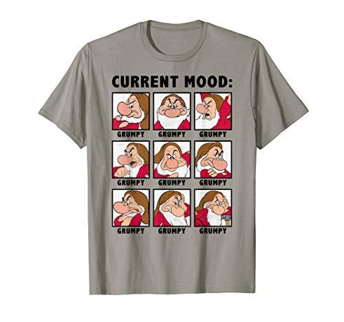 Disney Snow White Grumpy Current Mood Panel T-Shirt