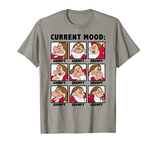 Disney Snow White Grumpy Current Mood Panel T-Shirt