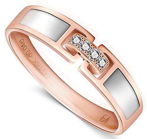 AiZnoY Herren Unisex Damen -  Gold 18 Karat (750)  18 Karat (750) Gelbgold round-shaped   White Diamant