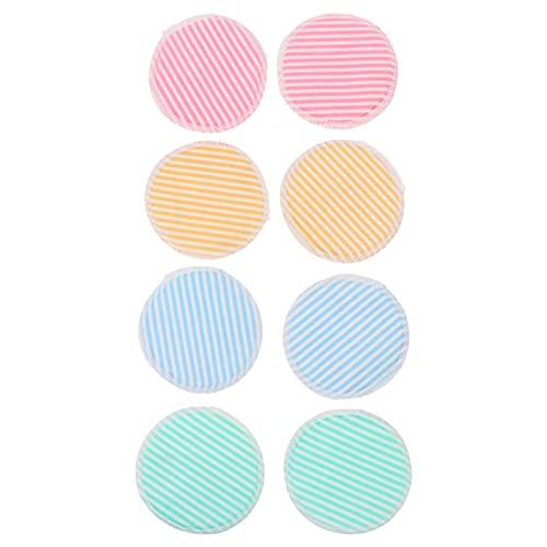 HEALLILY 8 Piezas de Fibra de Bambú Removedor de Maquillaje Almohadillas Reutilizables de Algodón Ronda de Limpieza Facial Almohadillas de Tóner Toallas de Maquillaje Reutilizables
