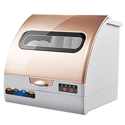 DGDD Mini lavavajillas automático - lavavajillas Compacto portátil, lavavajillas Mesa Control táctil Inteligente Secado Almacenamiento Pantalla LED Limpieza UV 360° hogar Cocina apartamento