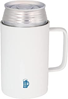 シービージャパン 缶 ホルダー ホワイト 350ml 保温 保冷 ステンレス 真空 断熱 ジョッキ BEER GOMUG