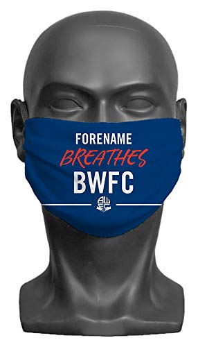Personalised Bolton Wanderers FC Breathes Adult Face Mask- Large