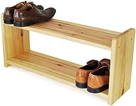 HEERA MOTI INTERIORS Wooden 2 Shelves Shoe Rack (Beige, Standard Size)