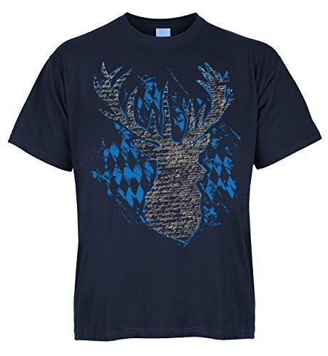 Beieren klederdracht voor lederhosn bio-katoen T-shirt hert ruiten klederdrachtmotief shirt Oktoberfest tent feest klederdracht shirt
