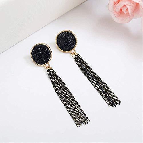 Dames oorbellen sets hoepels ontwerp geometrie oorbellen voor vrouwen rechthoek oorbellen voor vrouwen bruiloft sieraden cadeauzwart
