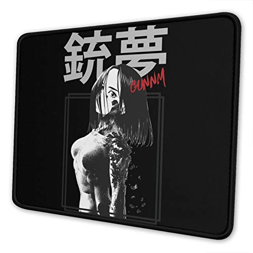 Gunnm Battle Angel Alit-A Mouse Pad Gaming Mouse Pad Non-Slip Neoprene Base with Stitched Edge Computer Pc Mousepad for Home Office