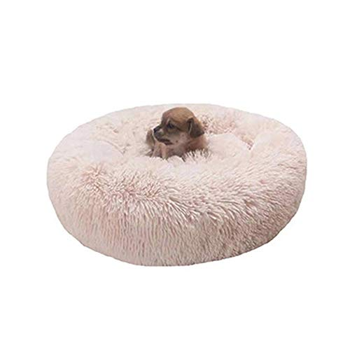 Aqiong KAERMA Lange pluche Super Soft hondenkussen Pet Kennel Ronde slaapzak Lounger Cat House winterbank Basket for Small Medium Large Dog Warme accessoires voor huisdieren (maat: Light pink 40x20cm)