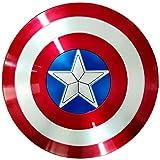 Getrichar Avengers Marvel Capitán América Escudo, Material ABS Accesorios de película, Disfraz de superhéroe para niño Adulto 60 cm