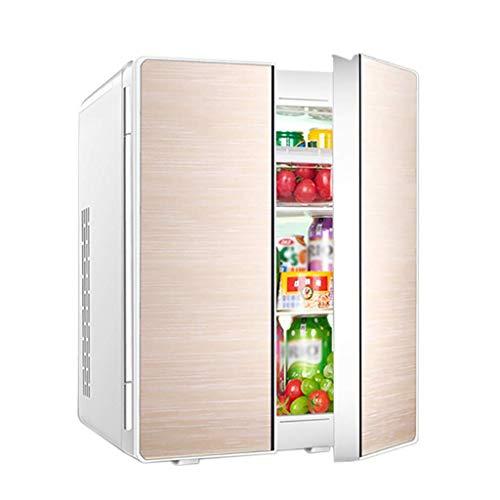 Zhong$chuang mini-koelkast dubbele deur dubbele koelkast koelkast kleine woonhuis auto thuis met dubbele gebruiksdoeleinden (kleur: zilver, goud