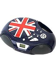 Belson Radio Lector de CD Portátil - Belson PCD-30, Display CD, Radio FM, Aux, MP3, Reproductor Musica USB, Salida Altavoces y Auriculares, Niña, Niño, Infantil - Rojo, Azul