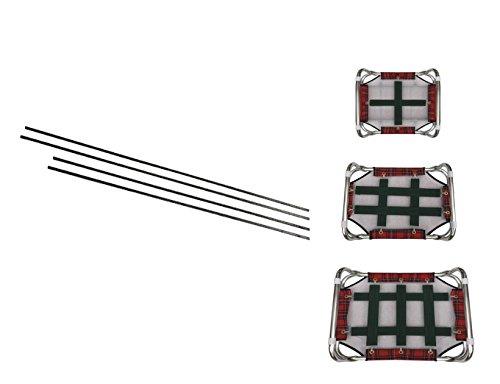 Fortesan Tiranti di ricambio per brandina sempretesa - Componenti in metallo per il lettino del tuo amico a 4 zampe (75x115)