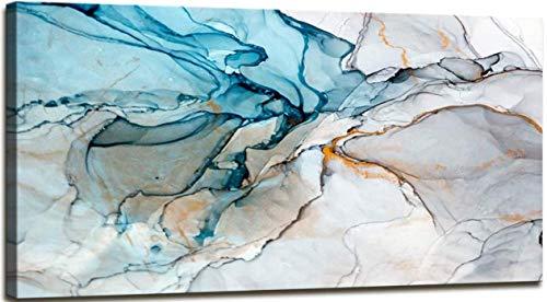 TBMX Öl auf Leinwand Gemälde, handgemalte Moderne abstrakte strukturierte Riss große Wandkunst Gemälde, Dekor Kunst,Rahmenlos (100 x 50 cm)
