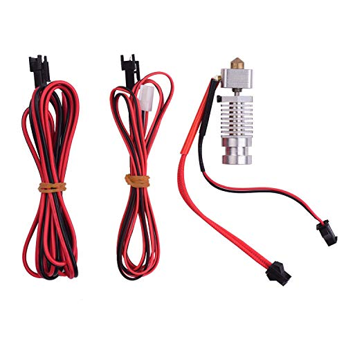 3D Printer All Metal Hotend Extruder Kit with Connection Cable 0.4mm Nozzle Compatible with Robo R1 R1+ Printer 1.75mm Filament