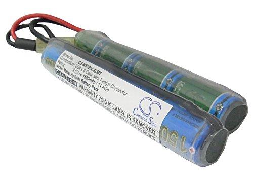 Batería Compatible con Airsoft Guns AUGM Mini Tamiya Ni-MH 9.6V 1500mAh - 2/3A