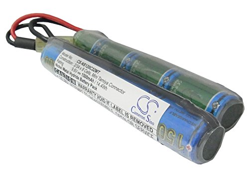 Replacement Battery for Airsoft Guns AUGM, AUGRT, CAR15, FNP90, G36, G36C, G3A4, M4A1, M4A1-RIS, MC51, MP5A5, Steyr