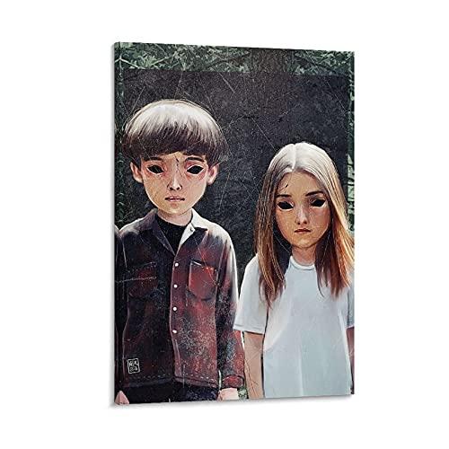 WATERINK End of the F World - Poster su tela e stampa artistica da parete, 40 x 60 cm