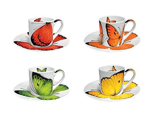 Taitu Freedom - Espressotasse m/U, 4 Stück Schmetterlinge