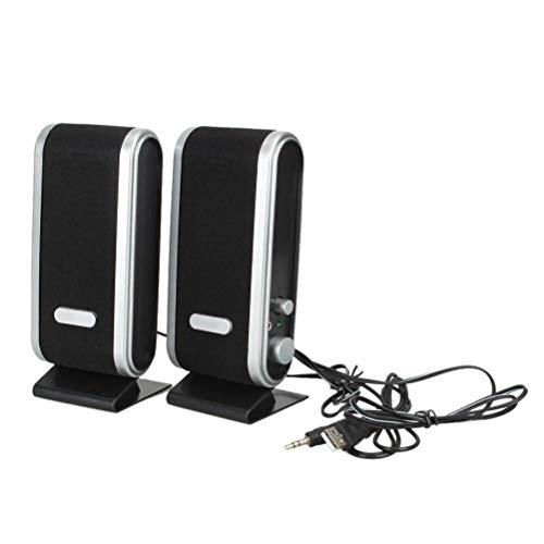 HDDFG Para PC Ordenador Portátil 6W USB2.0 Altavoces De Alimentación USB con Cable Conector De Audio Estéreo De 3,5 Mm