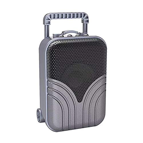 1Pc Bluetooth Pequeño Altavoz Inalámbrico Trolley Case Ordenador Altavoz U Disco Retro Gris