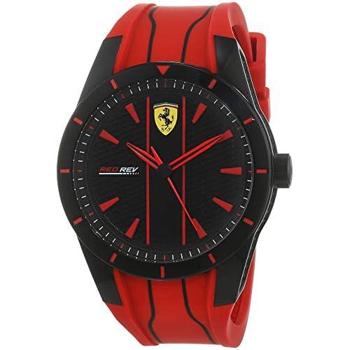Scuderia Ferrari Orologio Analogico Quarzo Uomo con Cinturino in Silicone 830539