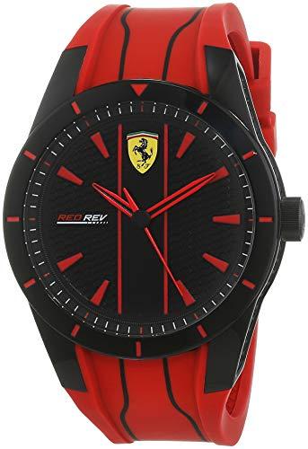 Scuderia Ferrari Reloj Analógico para Hombre de Cuarzo con Correa en Silicona