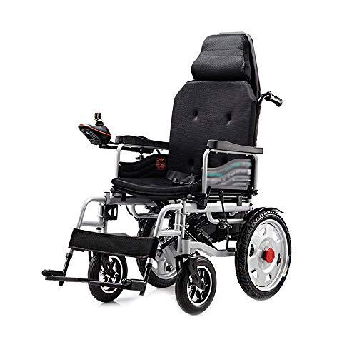 Byx- Elektrischer Rollstuhl, klappbarer intelligenter behinderter älterer Allrad-Rollstuhl, 100kg Last, EPBS-Bremssystem -Rollstuhlfahrer (Farbe : B)