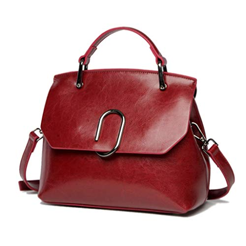 Top Design Fashion Woman Sac À Main Souple Sacs À Bandoulière Crossbody Bag Wallet (Couleur : Red)