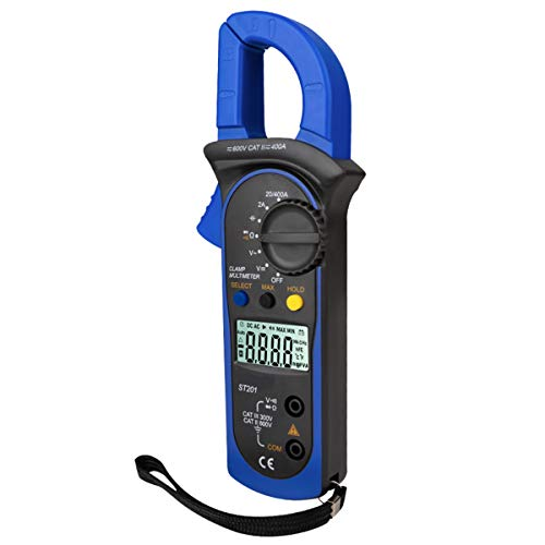Soapow Digital Clamp Multimeter Ammeter Capacitor Tester Power Test Automotive Voltage Tester