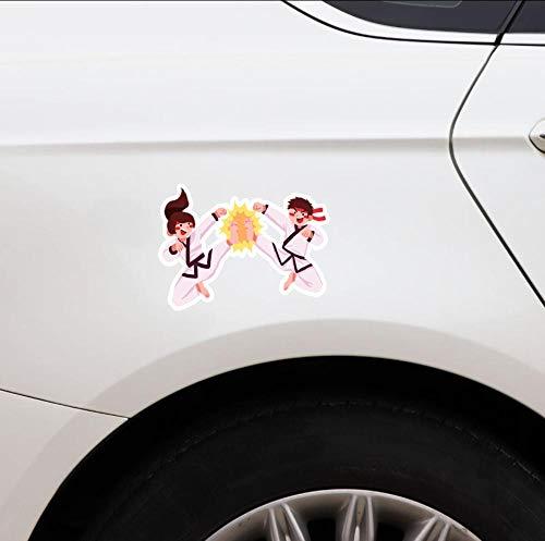 Ysurehom 2Pcs 11,8X16,6 Cm Schöne Mädchen Und Jungen Mial S Grafik Grafik Auto Aufkleber Zubehör