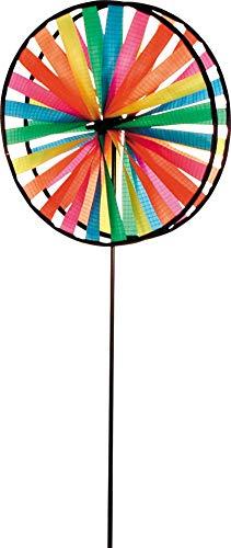 HQ Windspiration 100876 - Magic Wheel Duett, UV-beständiges und wetterfestes Windspiel - Höhe: 79 cm, Tiefe: 16 cm, Ø: 28 cm, inkl. Standstab