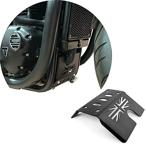 Motorrad Kühlerschutz Wassertankschutz Kühlergrill Grill Abdeckung CNC Aluminium Unterfahrschutz Schutzabdeckung für Triumph Bonneville T120 Street Twin Thruxton 1200 Thruxton R 2016-2021