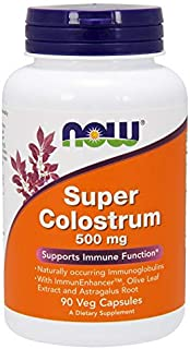 Super Colostrum 500 mg - 90 Veg Capsules by NOW