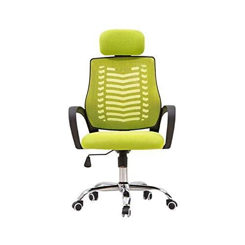 FENXIXI Silla de oficina ergonómica para casa, oficina, silla de malla con malla elástica, cojín transpirable, ajuste multifunción