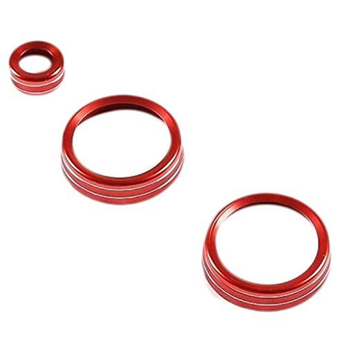 sikmoi Rote Aluminiumlegierung Audio Ring Auto Klimaanlage Knopfleiste , für Land Rover Defender 110 2020
